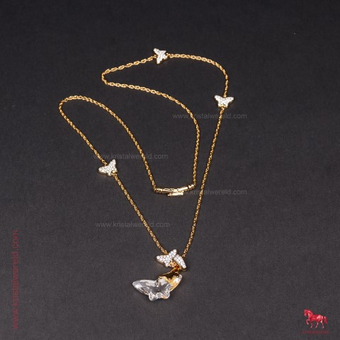 voortreffelijk ontwerp beste goedkoop groothandel verkoop Ketting met vlinders lang model